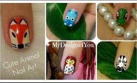 Cute Animal Nail Art Vol.2 | Diseño de Uñas-Animales 2 ♥ Дизайн Ногтей