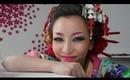 Coloful Geisha Look - Makeup & Hair Tutorial + How to wear Kimono