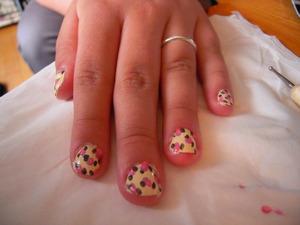 Flower summer nails
