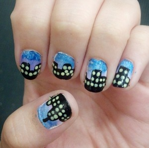 Inspired by cutepolish, my version of the City Nails!