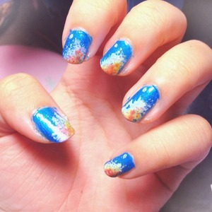 I want galaxy nails but they are earth nails.