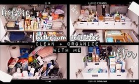 EXTREME BATHROOM DECLUTTER + CLEAN WITH ME | The Beauty Vault