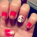 Ombre Hello Kitty Nails