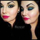 Green and brown with a red lip
