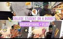 Grocery Haul + Mini Vlog| College Student on a Budget