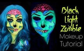 Black Light Zombie Halloween Makeup