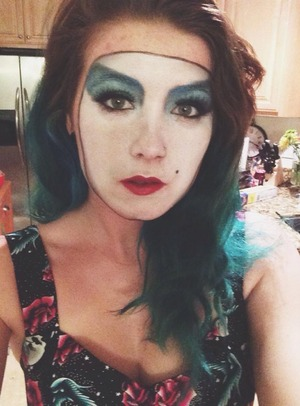 Janets makeup during the Floorshow on the Rocky Horror Picture Show!