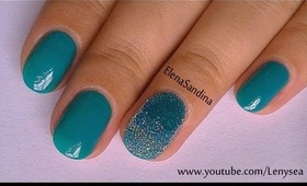 """Caviar Ombre """"Frosted"""" Winter Nail Art Design"""
