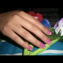 Simple flowers nails art