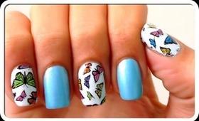 Butterfly Print Nail Design   DIY Butterfly Print Nails   Sally Hansen Nail Art