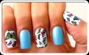 Butterfly Print Nail Design | DIY Butterfly Print Nails | Sally Hansen Nail Art