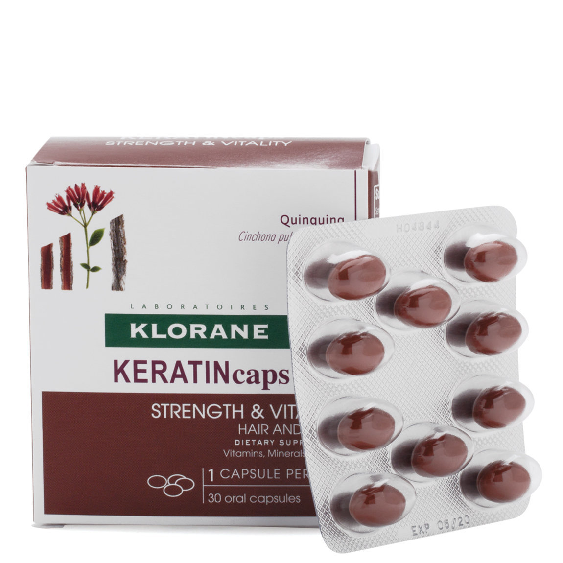Klorane Keratin Caps Hair and Nails Dietary Supplements 30 Capsules ...