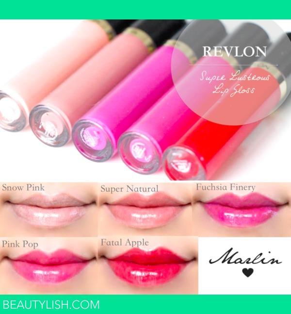 Revlon Super Lustrous Lip Gloss Swatches Marlin U S