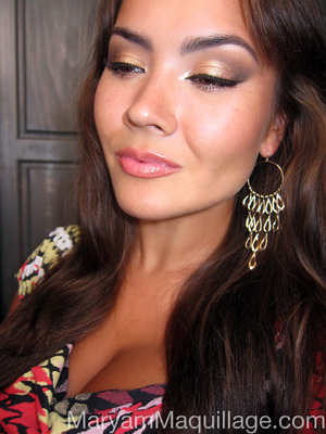 "Part of my ""Tigress From Tigris"" makeup look: http://www.maryammaquillage.com/2012/08/a-tigress-from-tigris.html"