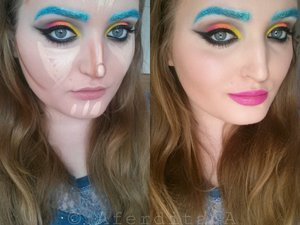 Just a light contouring with some different coloured concealers..
