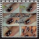 Black Dot Nails