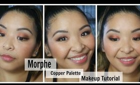 Morphe copper palette Makeup look