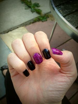Purple Glitter & Black
