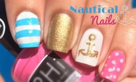Nautical Nail Art Tutorial by The Crafty Ninja