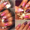 My Almond shaped pretty pink nails