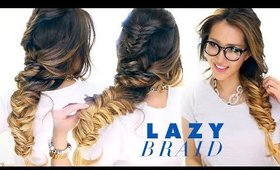 LAZY Girl's French Fishtail BRAID Hairstyle ★ Cute Summer Hairstyles