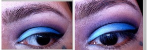 All shadows are from drugstore;)