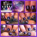 Purple Nebula Nails