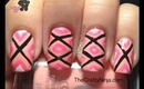 Pink Geometric Nail by The Crafty Ninja