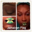 Jamaican Flag Themed Lips