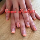 perfect peach acrylic