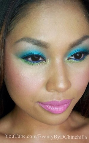 Create a flirty, and playful eye-catching look with these hues. Check out the tutorial on YouTube.com/BeautyByDChinchilla