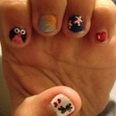 Fun nail art for little girls