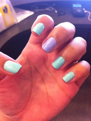 I used Essie HANDS DOWN lol lithium and pure ice