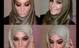 Eid Inspired Bronzy Brown Smokey Eye Makeup Tutorial Feat. Hijab-ista.com & Desiolens.com