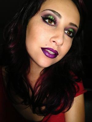 Late night makeup