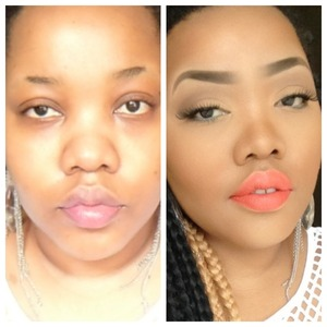 Watch me transform from drab to fab in this Eva Marcille Inspired orange-lip look http://youtu.be/sKwoQO5CYuA