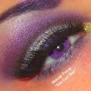 Purple Glittery Crease