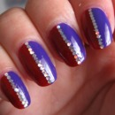 Purple and Red Nails