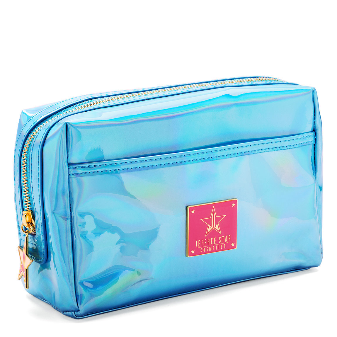 Jeffree Star Cosmetics Makeup Bag Holographic Blue product smear.