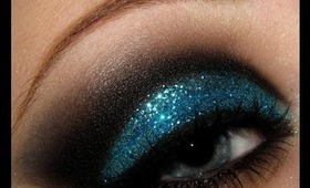 Cut Crease with Glitter Makeup Tutorial