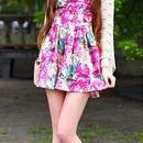 Colorful Oil Paint Print Dress