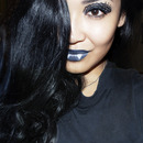 Lace look for Halloween