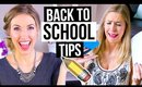 BACK TO SCHOOL || Tips to Stay Organized and Easy Makeup & Hair!