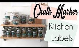 Liquid Chalk Markers Kitchen Labels
