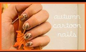 Autumn / Fall Cartoon Nails ● Nail Art