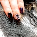Halloween Nail Tutorial: Skull & Crossbones