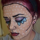 Pop Art, Comic Book, Crying, Makeup
