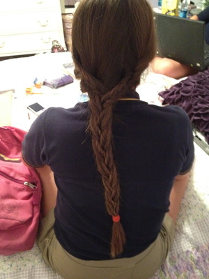 Another triple fishtail I did on another friend's hair which is longer
