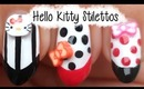 Cute Hello Kitty Stiletto Nails ♥