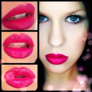 Subtle ombré pink lips using Nars Schiap and Mac Rebel <3
